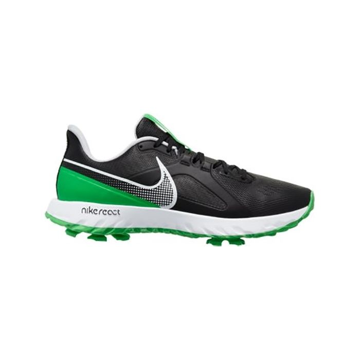Nike React Infinity Pro Golf Shoes Black/White/Green