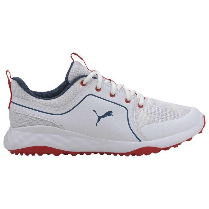Puma Grip Fusion Sport 2.0 Golf Shoes White/Dark Denim