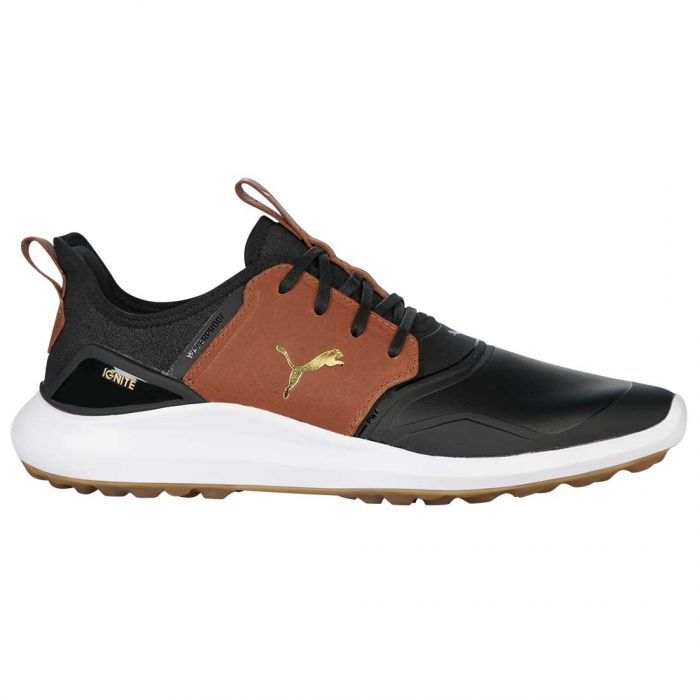 Puma Ignite NXT Crafted Golf Shoes Black/Leather Brown