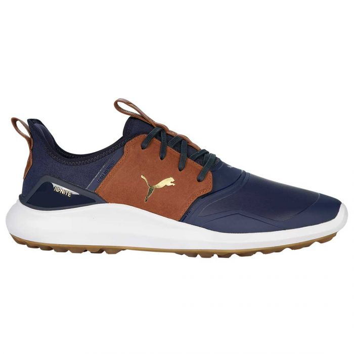 Puma Ignite NXT Crafted Golf Shoes Peacoat/Leather Brown