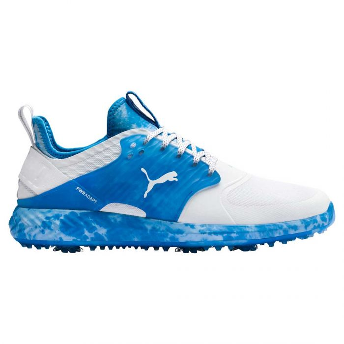 Buy Puma Ignite Pwradapt Caged Love Haight Golf Shoes White Blue Golf Discount