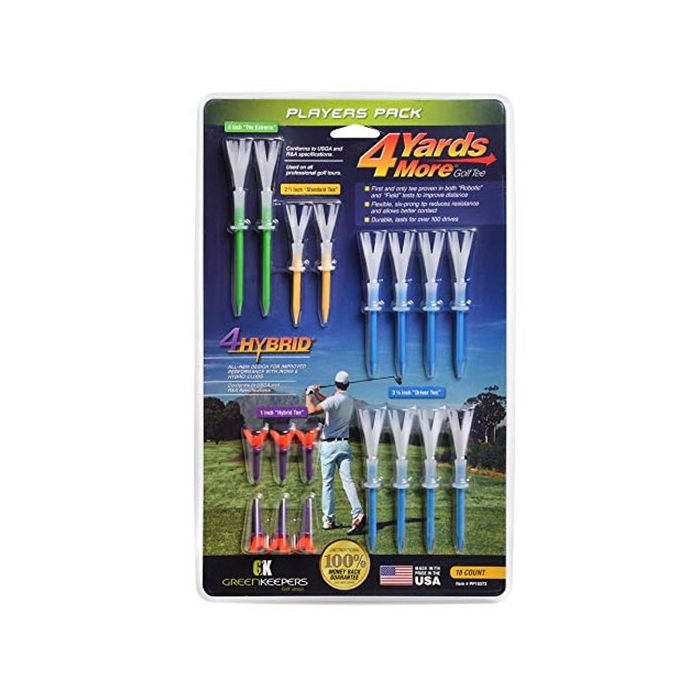 Green Keepers 4 Yards More Players Pack Golf Tees