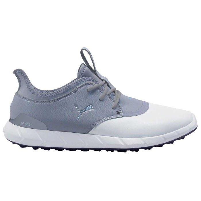Puma Ignite Spikeless Pro Golf Shoes White/Quarry