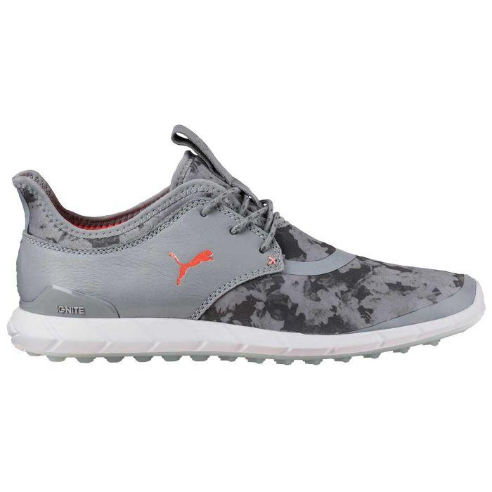 Puma Women's Ignite Spikeless Sport Floral Golf Shoes Quarry/Energy Peach