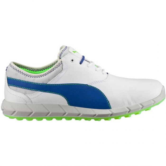 Puma Ignite Spikeless Golf Shoes White/Surf the Web/Green Gecko