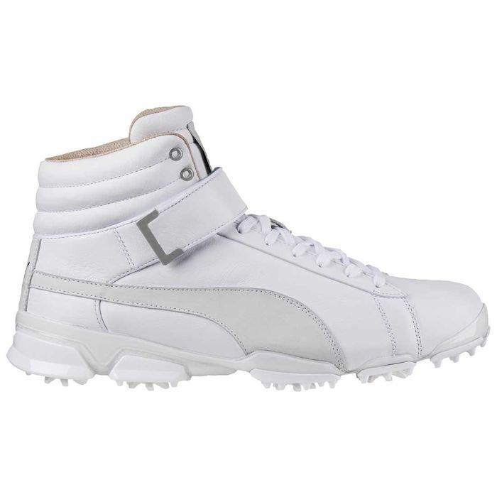 Puma TitanTour Ignite Hi-Top TT Golf Shoes White
