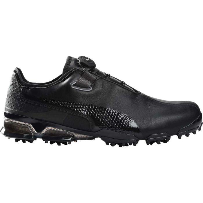 Puma TitanTour Ignite Premium Disc Golf Shoes Black/Dark Shadow