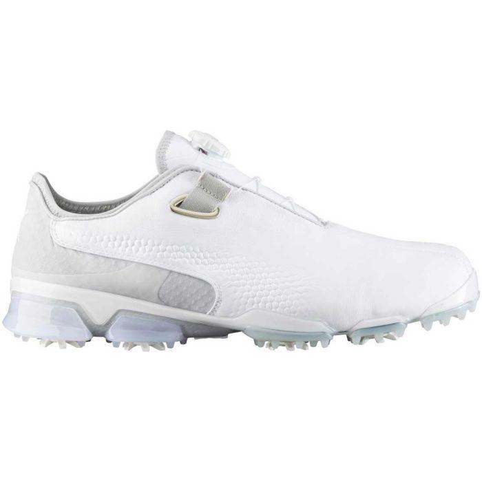 Puma TitanTour Ignite Premium Disc Golf Shoes White/Grey Violet