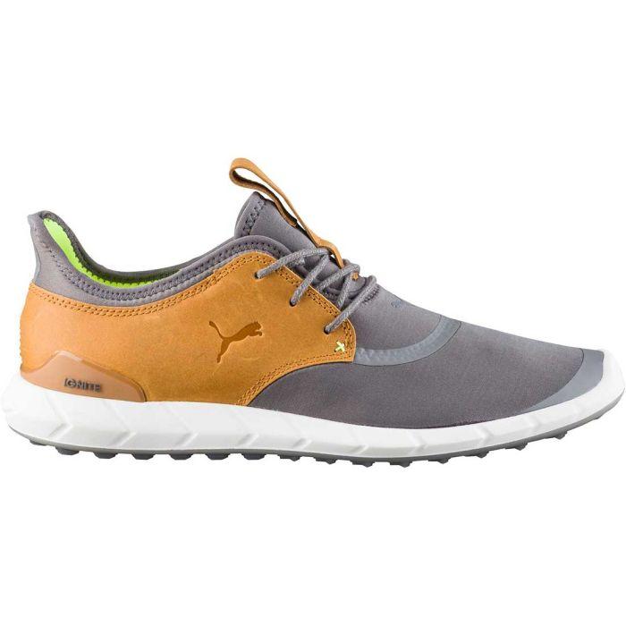 Puma Ignite Spikeless Sport Golf Shoes Grey/Yellow