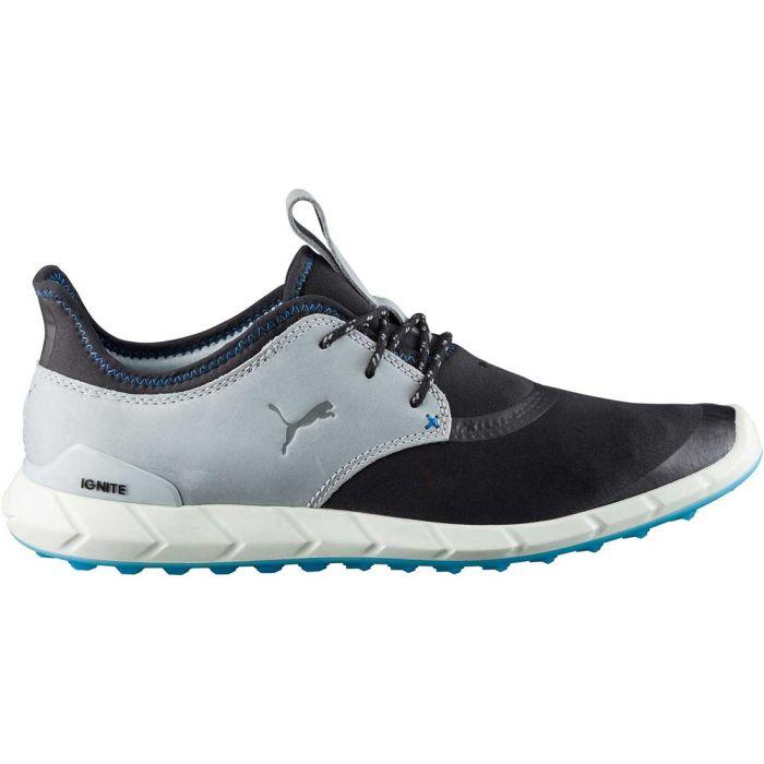 Puma Ignite Spikeless Sport Golf Shoes Black/Grey/Blue