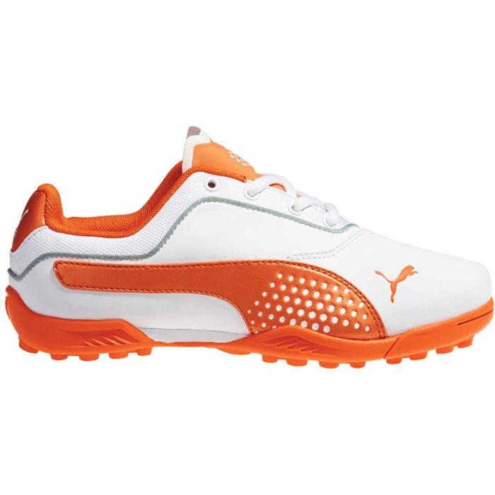 Puma TitanTour Jr. Golf Shoes White/Vibrant Orange