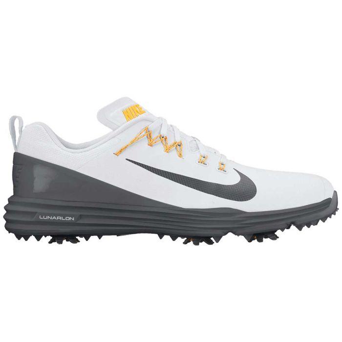 Nike Lunar Command 2 Golf Shoes White/Metallic Dark Grey