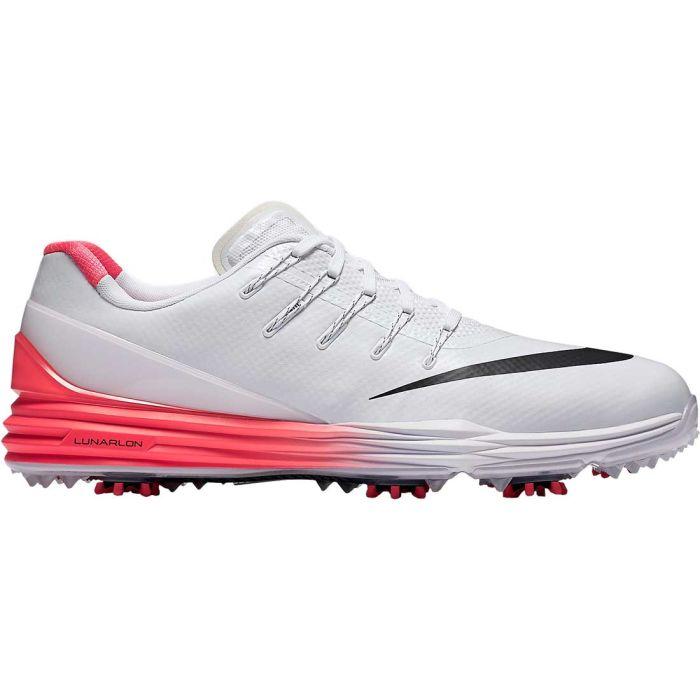 Nike Lunar Control 4 Golf Shoes White/Bright Crimson