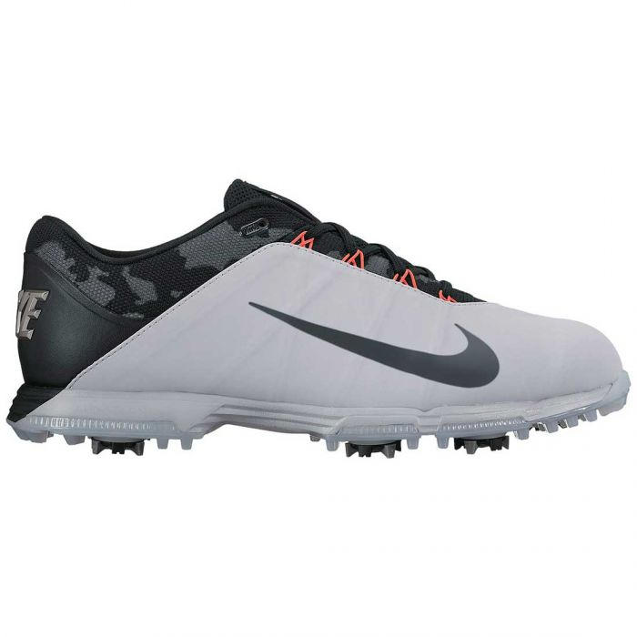 Nike Lunar Fire Golf Shoes Wolf Grey/Chrome/Black/Solar Red