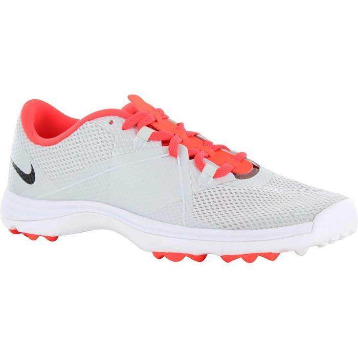 Nike Women's Lunar Summer Lite 2 Golf Shoes Platinum/Crimson