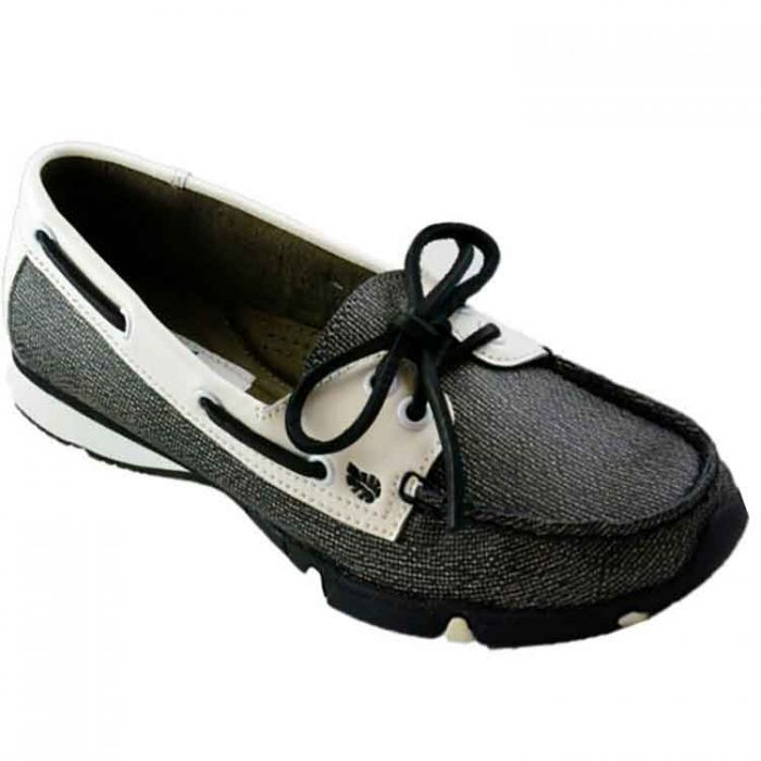 GolfStream Shoes Women's Marina Loafer Golf Shoes White/Black Pearl