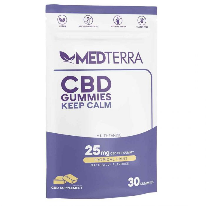 Medterra CBD Keep Calm Gummies 25mg - 30 Count