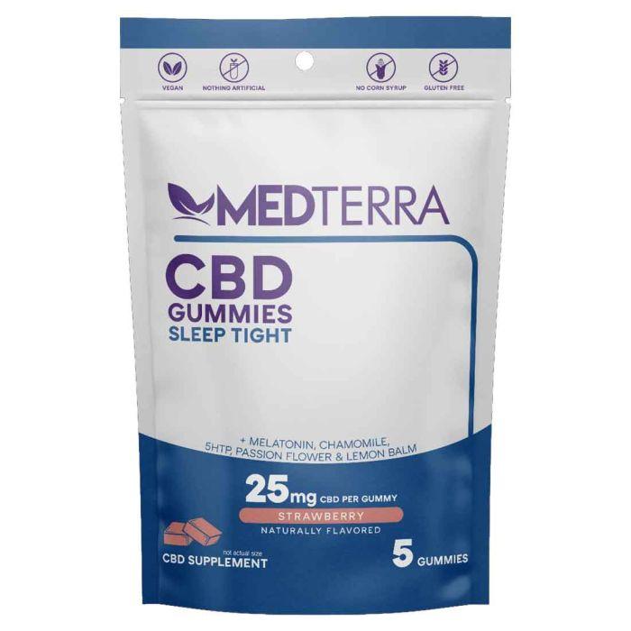 Medterra CBD Sleep Tight Gummies 25mg - 5 Count