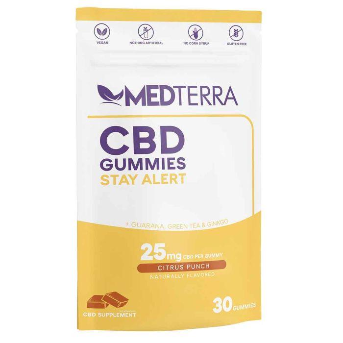 Medterra CBD Stay Alert Gummies 25mg - 30 Count