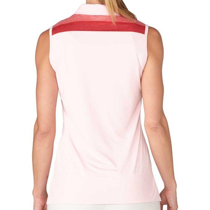 Adidas Women's Melange Stripe Sleeveless Polo