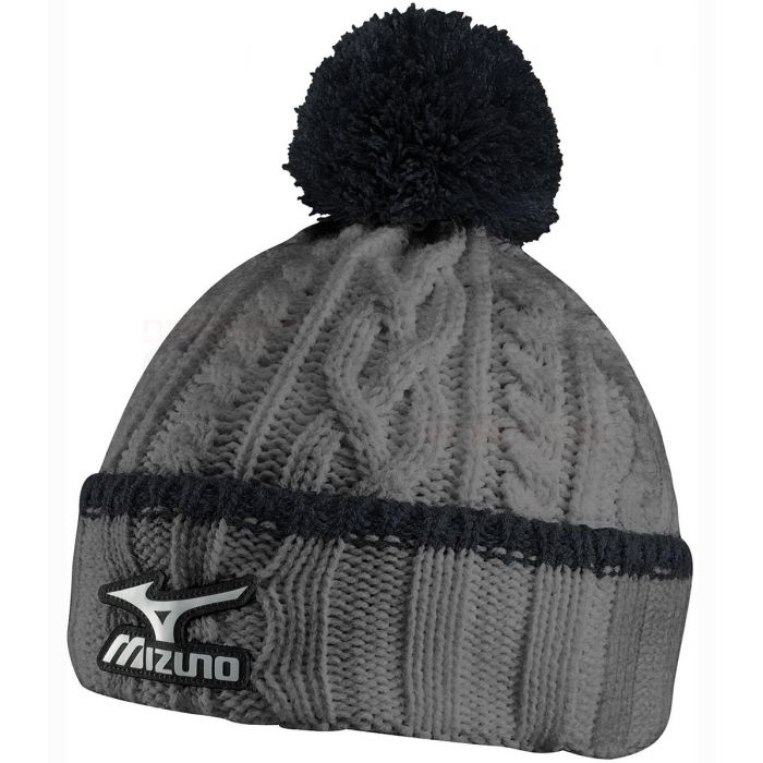 Mizuno Cable Knit Bobble Beanie