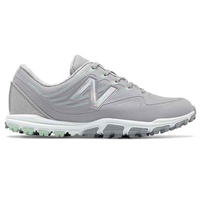 New Balance Women's NBGW1005 Minimus WP Golf Shoes Grey/Mint