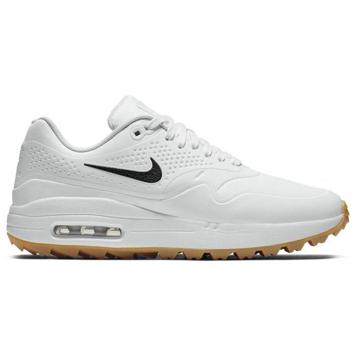 Nike Air Max 1 G Golf Shoes White/Gum Brown