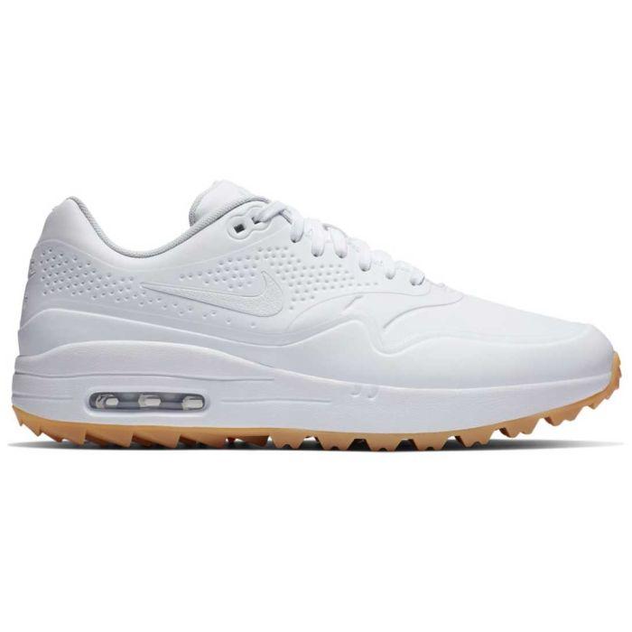 Nike Air Max 1 G Golf Shoes White/White/Gum