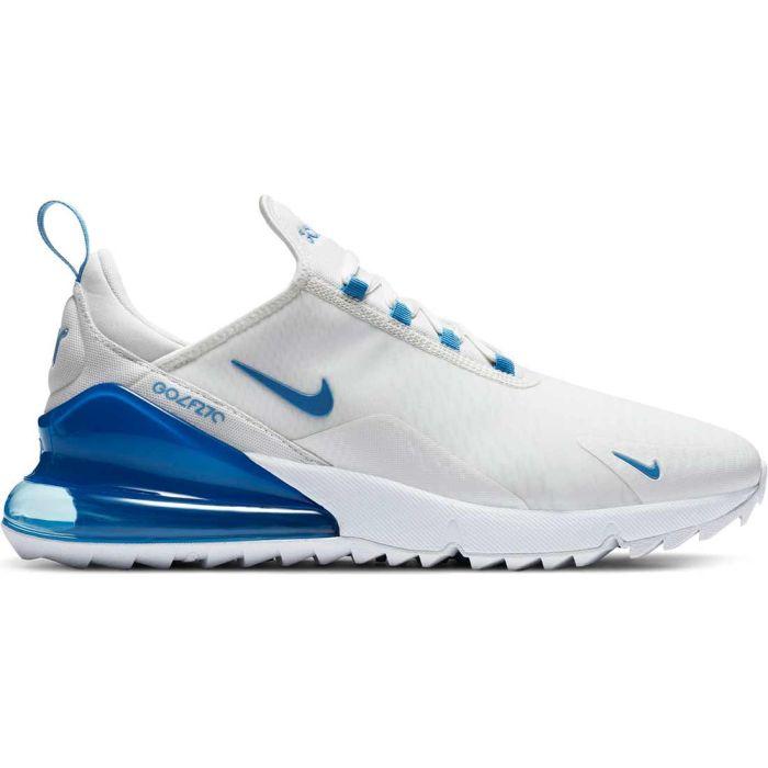 Nike Air Max 270 G Golf Shoes Metallic Summit White/Coast