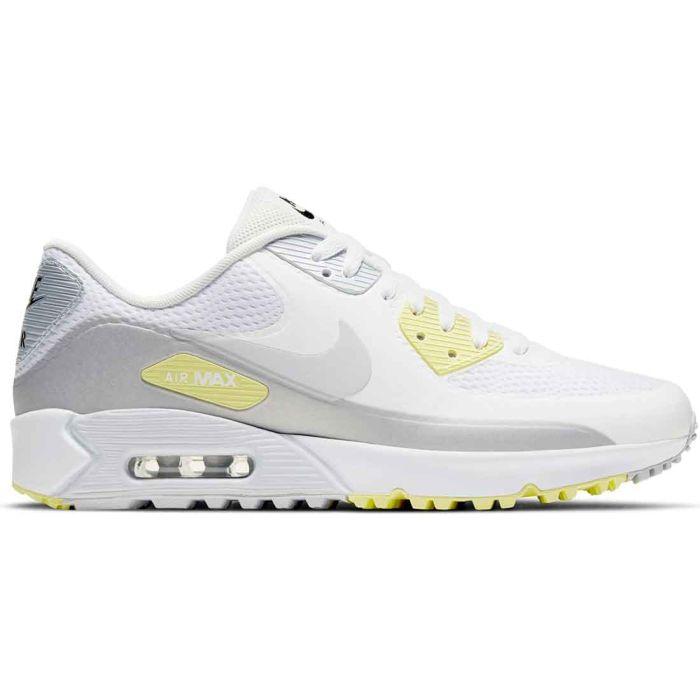 Nike Air Max 90 G Golf Shoes White/Pure Platinum