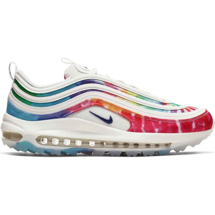 Nike Air Max 97 G LTD PGA Golf Shoes White/Tie Dye
