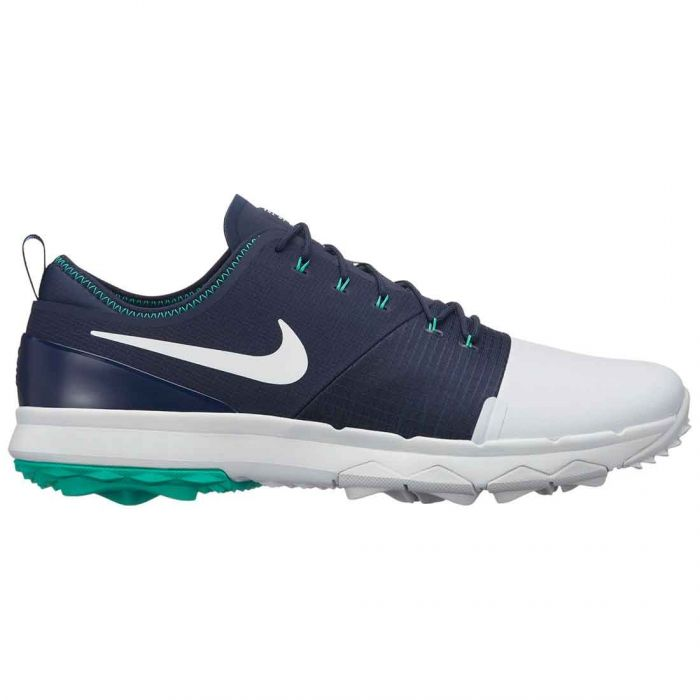 Nike FI Impact 3 Golf Shoes Pure Platinum/Navy