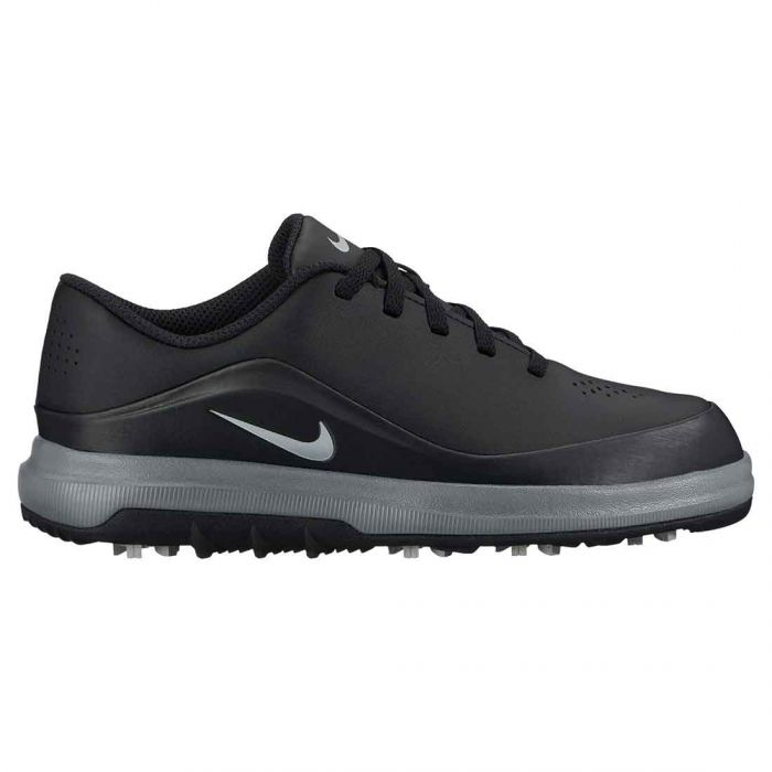 Nike Juniors Precision Golf Shoes Black/Metallic Silver