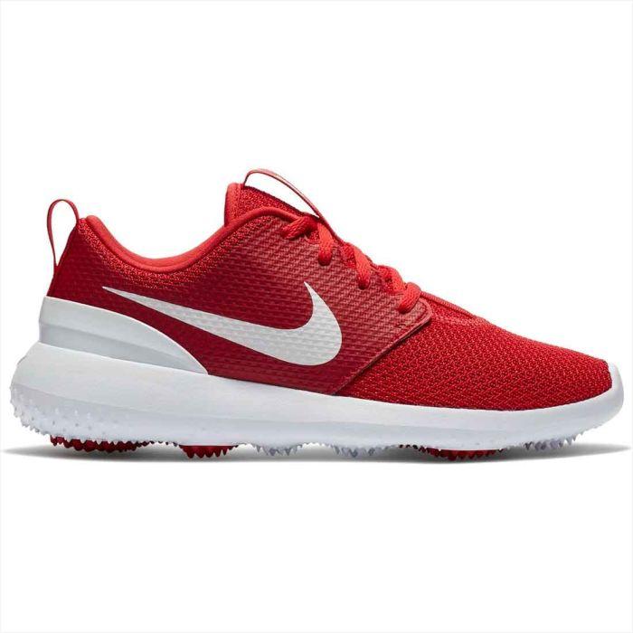 Nike Juniors Roshe G Golf Shoes University Red/White