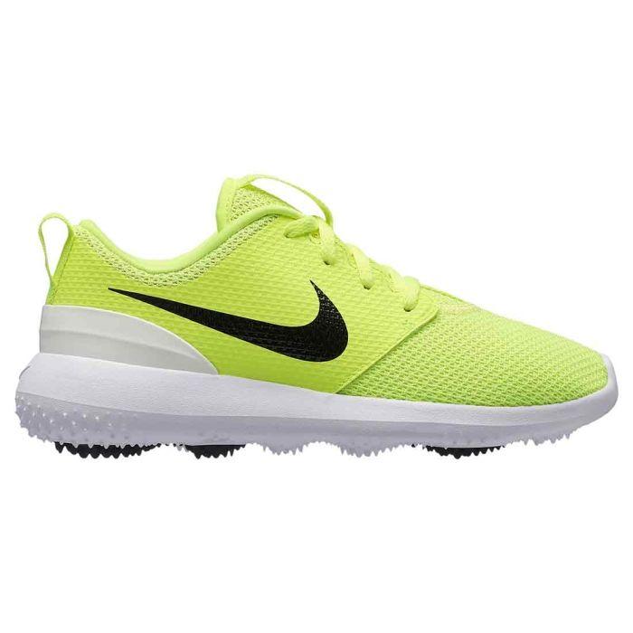 Nike Juniors Roshe G Golf Shoes Volt/Black