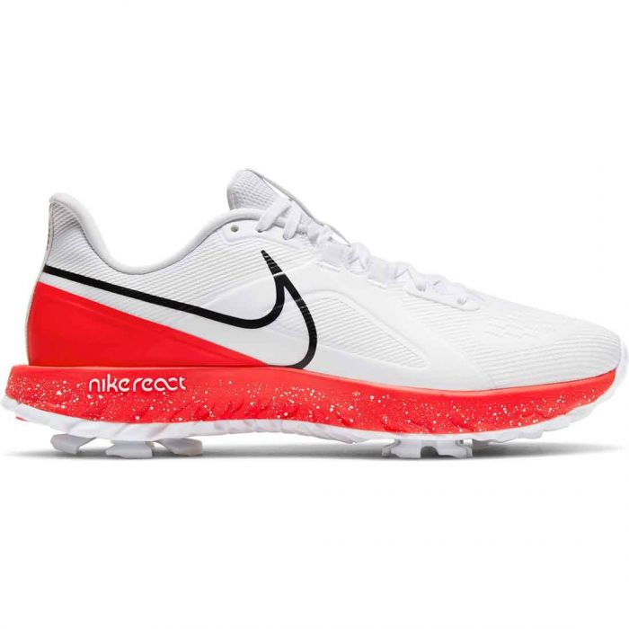 Nike React Infinity Pro Golf Shoes White/Black/Infrared
