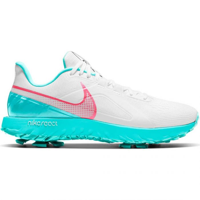 Nike React Infinity Pro Golf Shoes White/Hot Punch