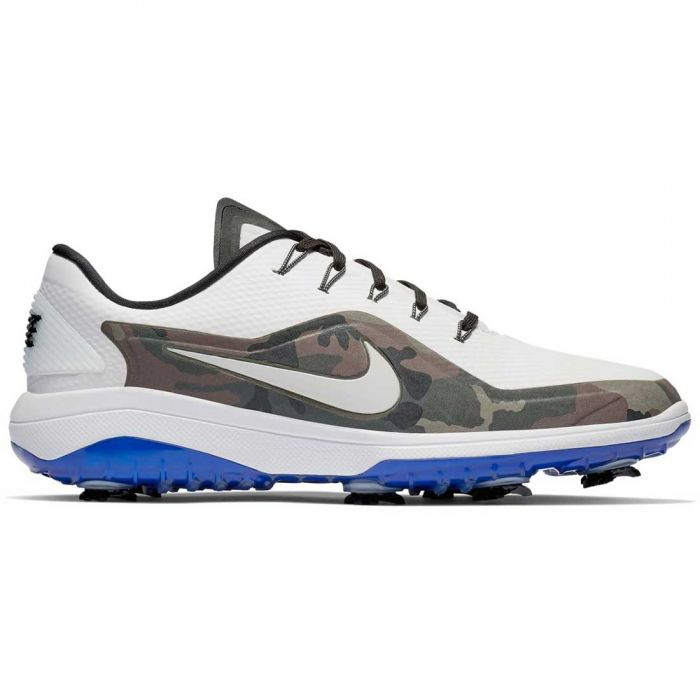 Nike Country Camo React Vapor 2 Golf Shoes White/Black/Hyper Royal