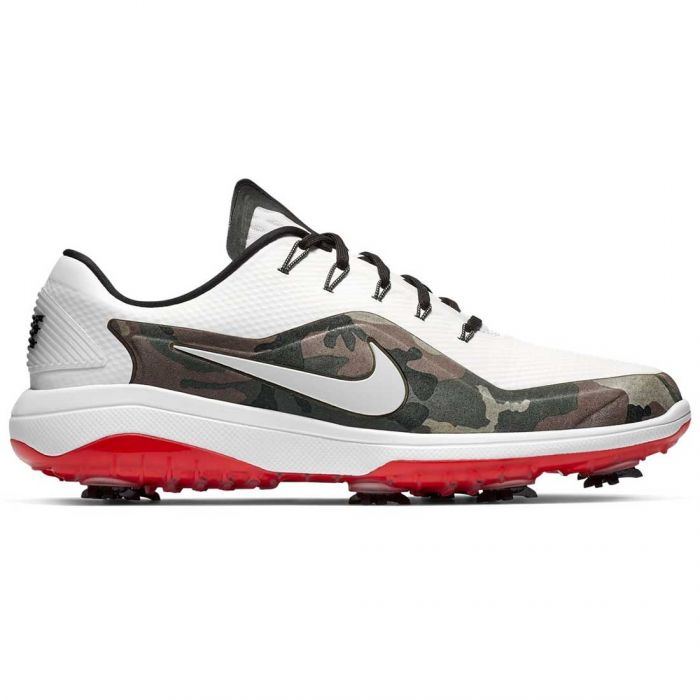 Nike Country Camo React Vapor 2 Golf Shoes White/Black/Siren Red