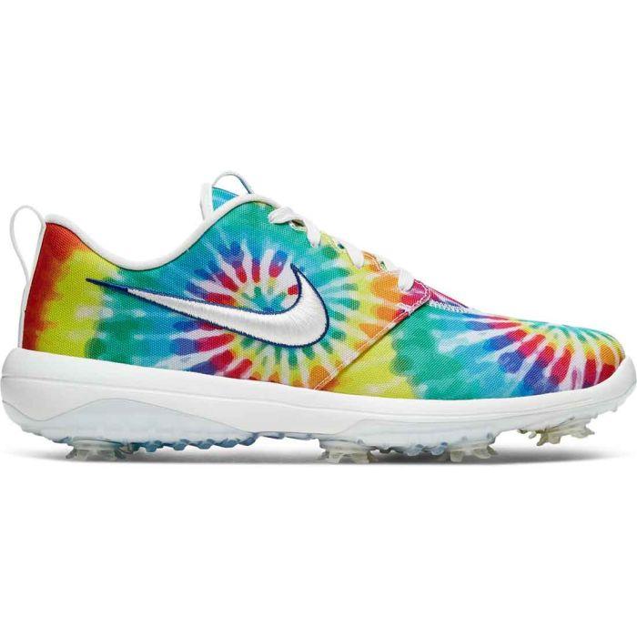 Nike Roshe G Tour LTD PGA Golf Shoes White/Tie Dye