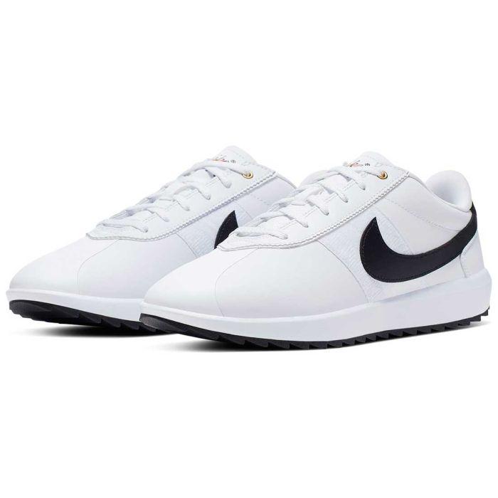 amenazar sol Mojado  Buy Nike Women's Cortez G Golf Shoes White/Black/Gold | Golf Discount