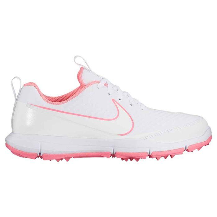 Nike Women's Explorer 2 Golf Shoes White/Sunset Pulse