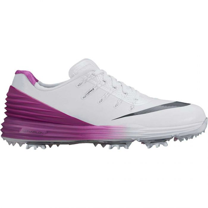 Nike Women's Lunar Control 4 Golf Shoes White/Cosmic Purple