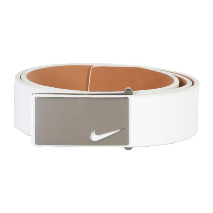 Nike Sleek Modern Plaque Leather Belt