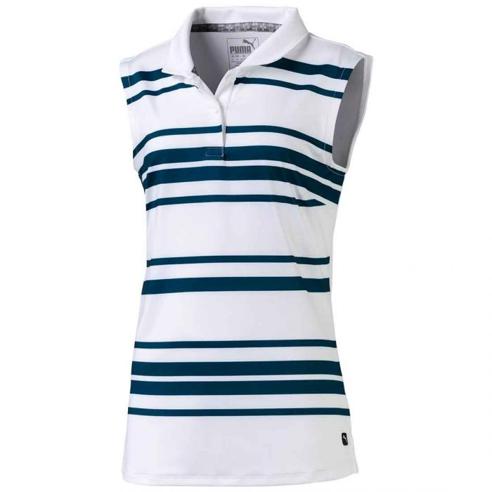 Puma Girls Stripe Sleeveless Polo
