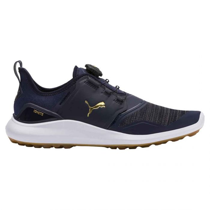 Puma Ignite NXT Disc Golf Shoes Peacoat/Gold