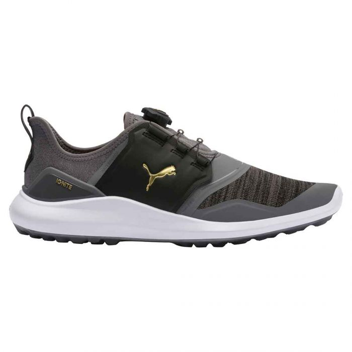 Puma Ignite NXT Disc Golf Shoes Quiet Shade/Gold