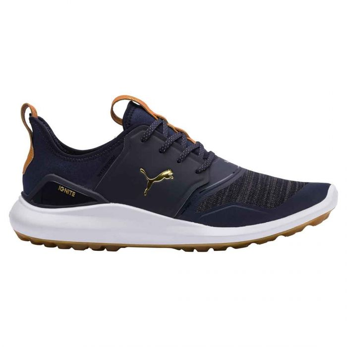 Puma Ignite NXT Lace Golf Shoes Peacoat/Gold