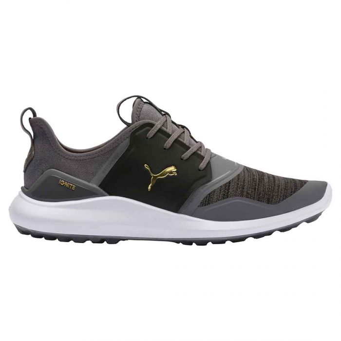 Puma Ignite NXT Lace Golf Shoes Quiet Shade/Gold