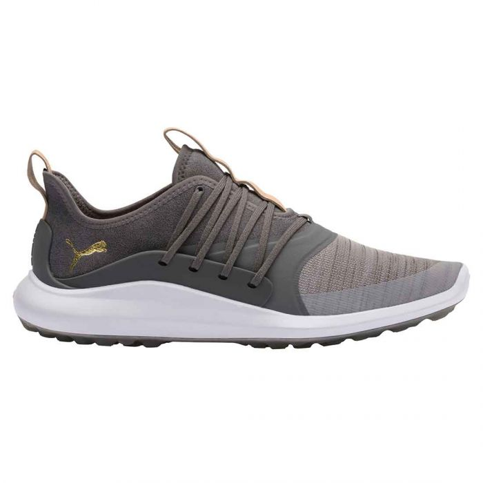 Puma Ignite NXT Solelace Golf Shoes Grey Violet/Gold
